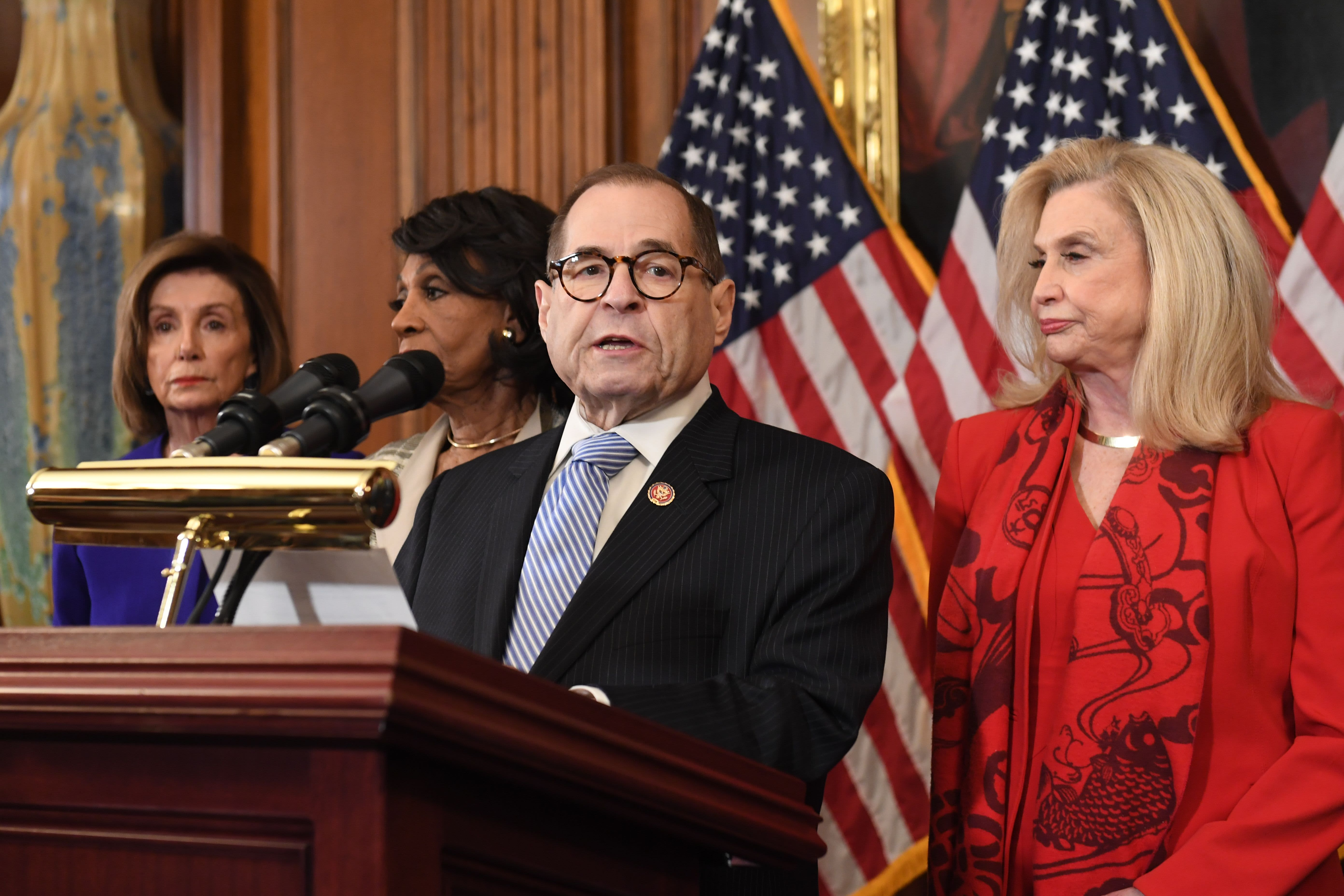 House Democrats announce abuse of power and obstruction of Congress articles of impeachment against Trump
