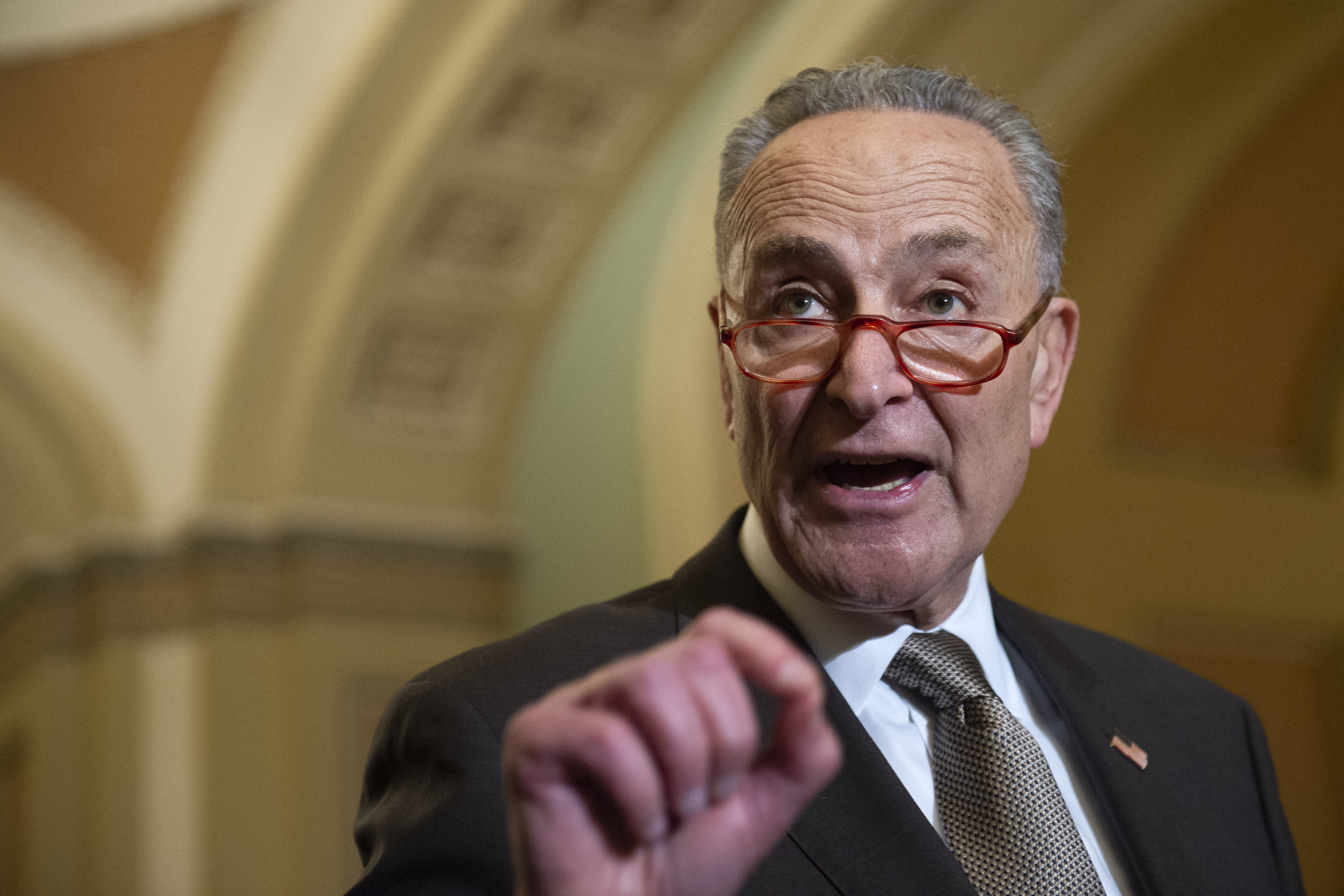Chuck Schumer, in a letter to Trump, says a weak trade deal could hurt the US for years to come