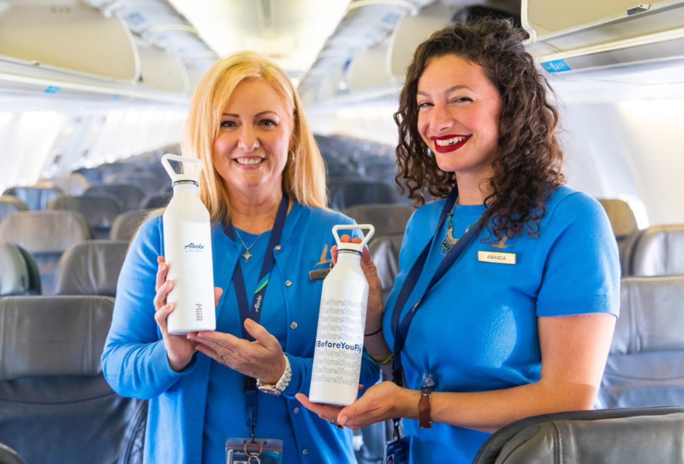 Airports and airlines want travelers to ditch their plastic water bottles