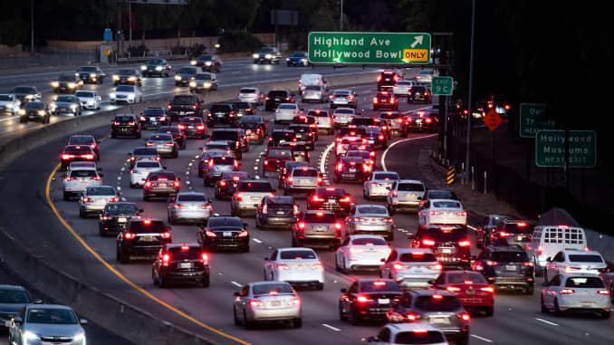 GP: emissions pollution traffic jam Los Angeles Traffic