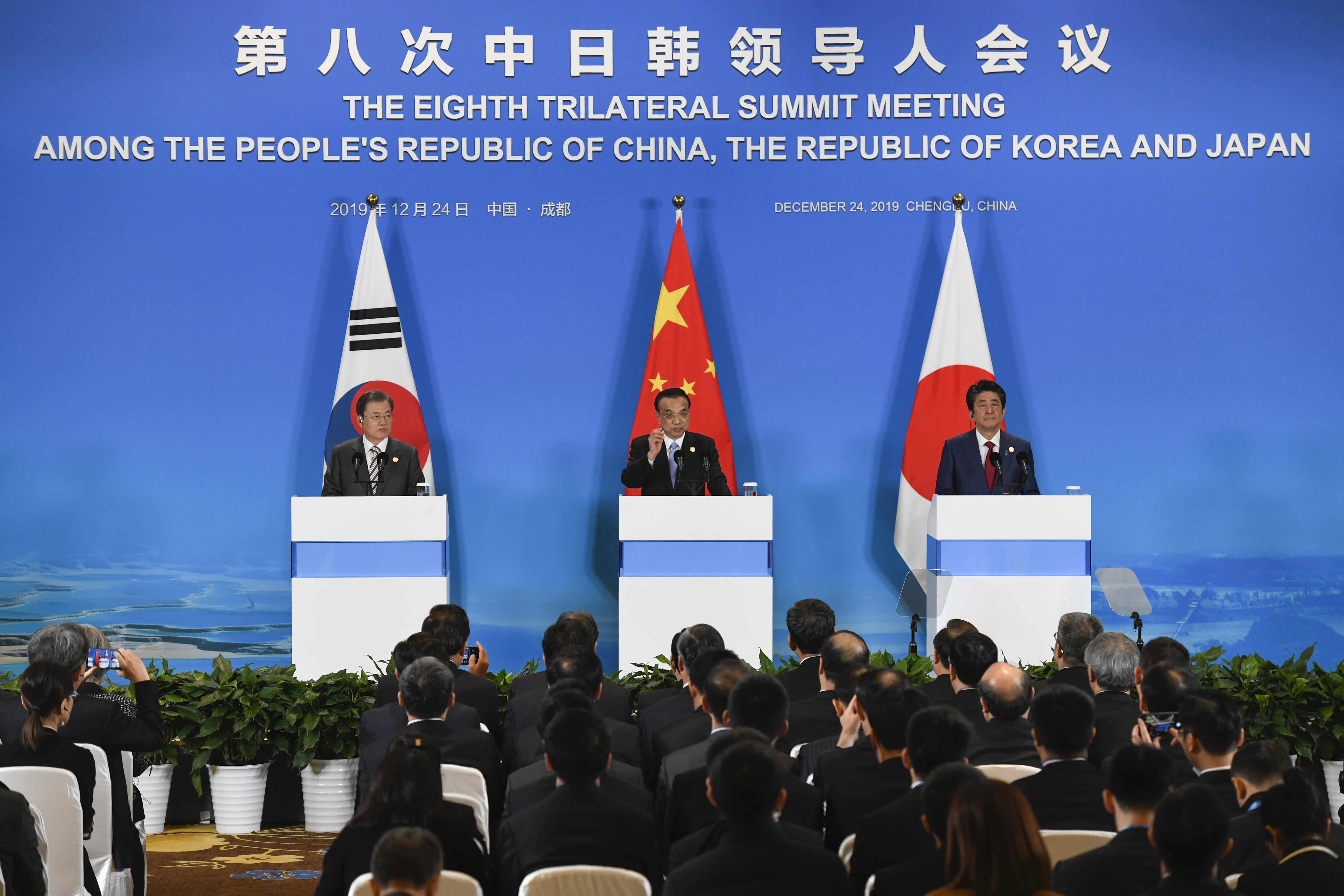 South Korea, Japan and China to work together to promote dialogue between North Korea and the US