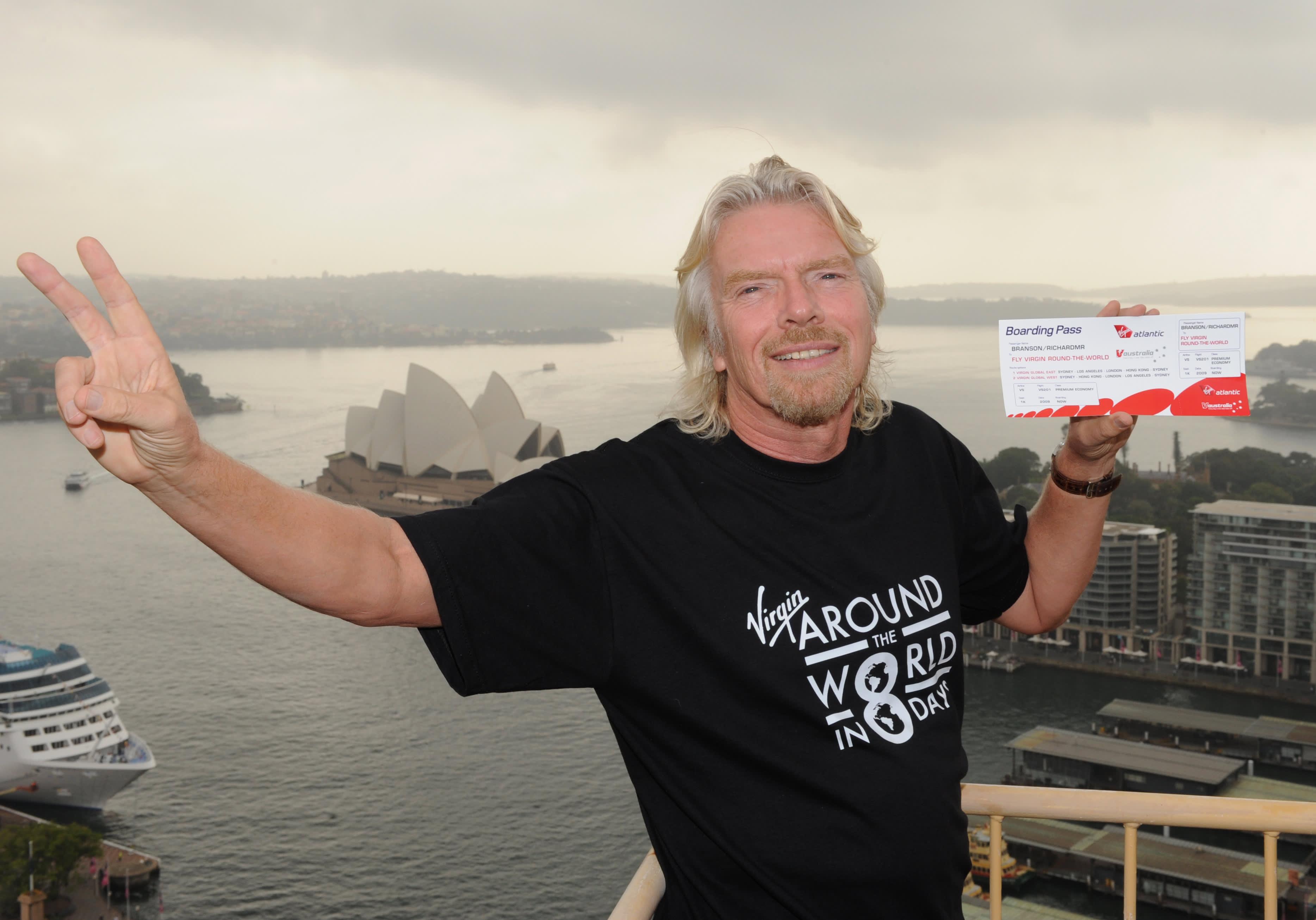 How Richard Branson started Virgin Atlantic with a blackboard selling $39 flights
