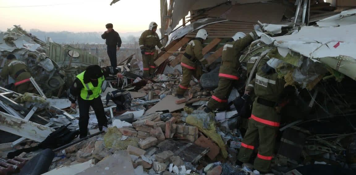 Plane crashes after takeoff in Kazakhstan, 12 dead, dozens injured