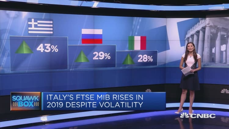 Greece, Russia and Italy: Europe's top performing stock markets in 2019