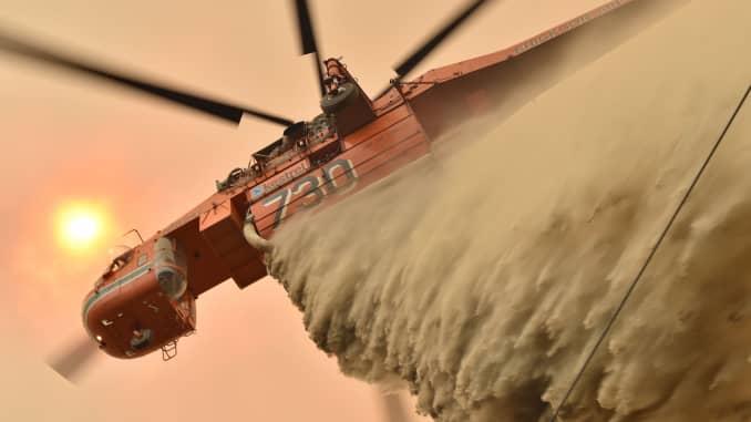 GP: Australia incendios forestales: Helicóptero cae ignífugo 191219
