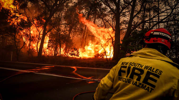 GP: Incendios forestales en Australia: incendio de montaña de Gospers en el nivel de emergencia mientras continúa la ola de calor