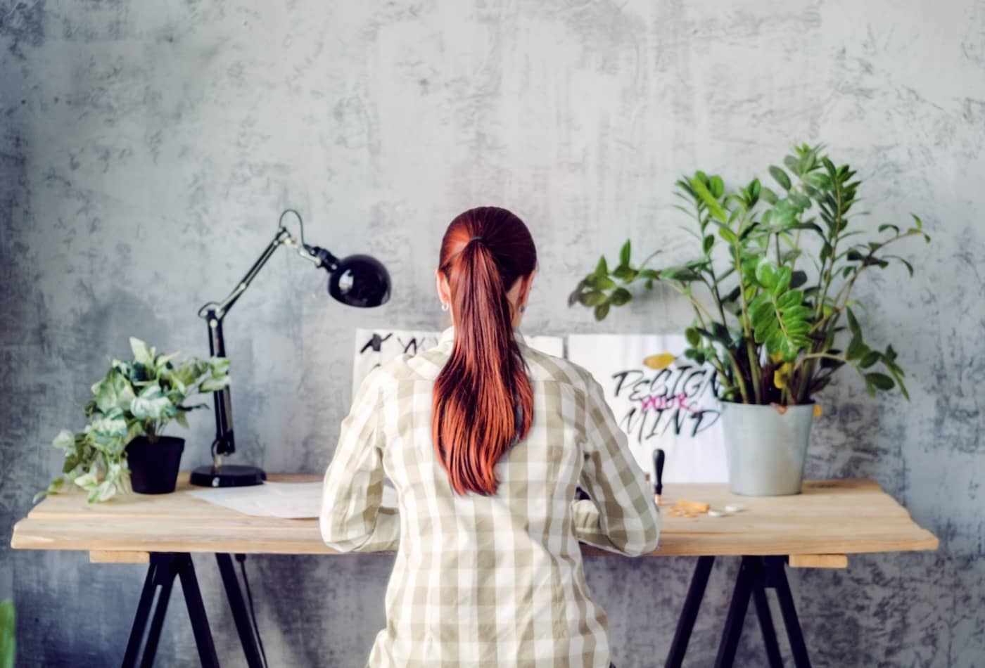 Anxiety And Work looking at desk plant for three minutes decreases stress