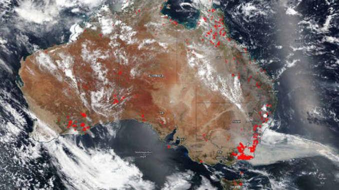 H / O: Australia Wildfires Sat view NASA