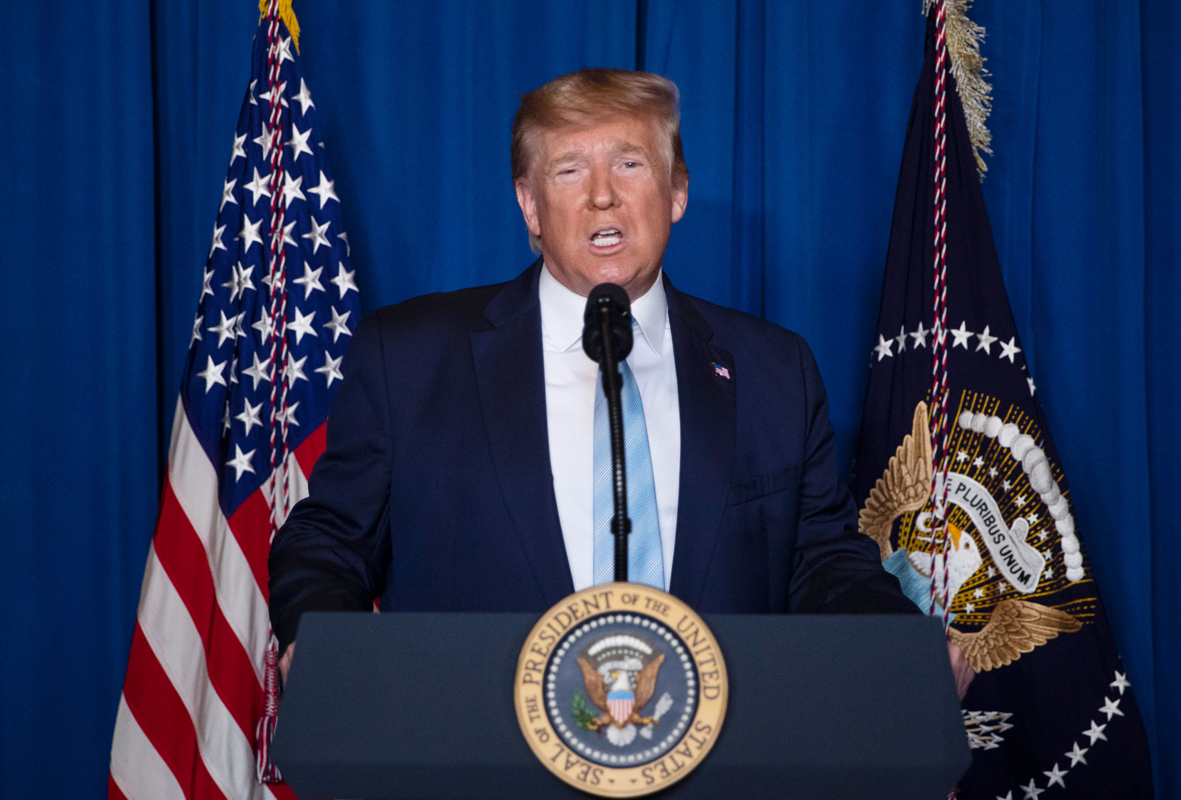 Trump says US does not seek war or regime change in Iran, but is still ready to act if 'necessary'
