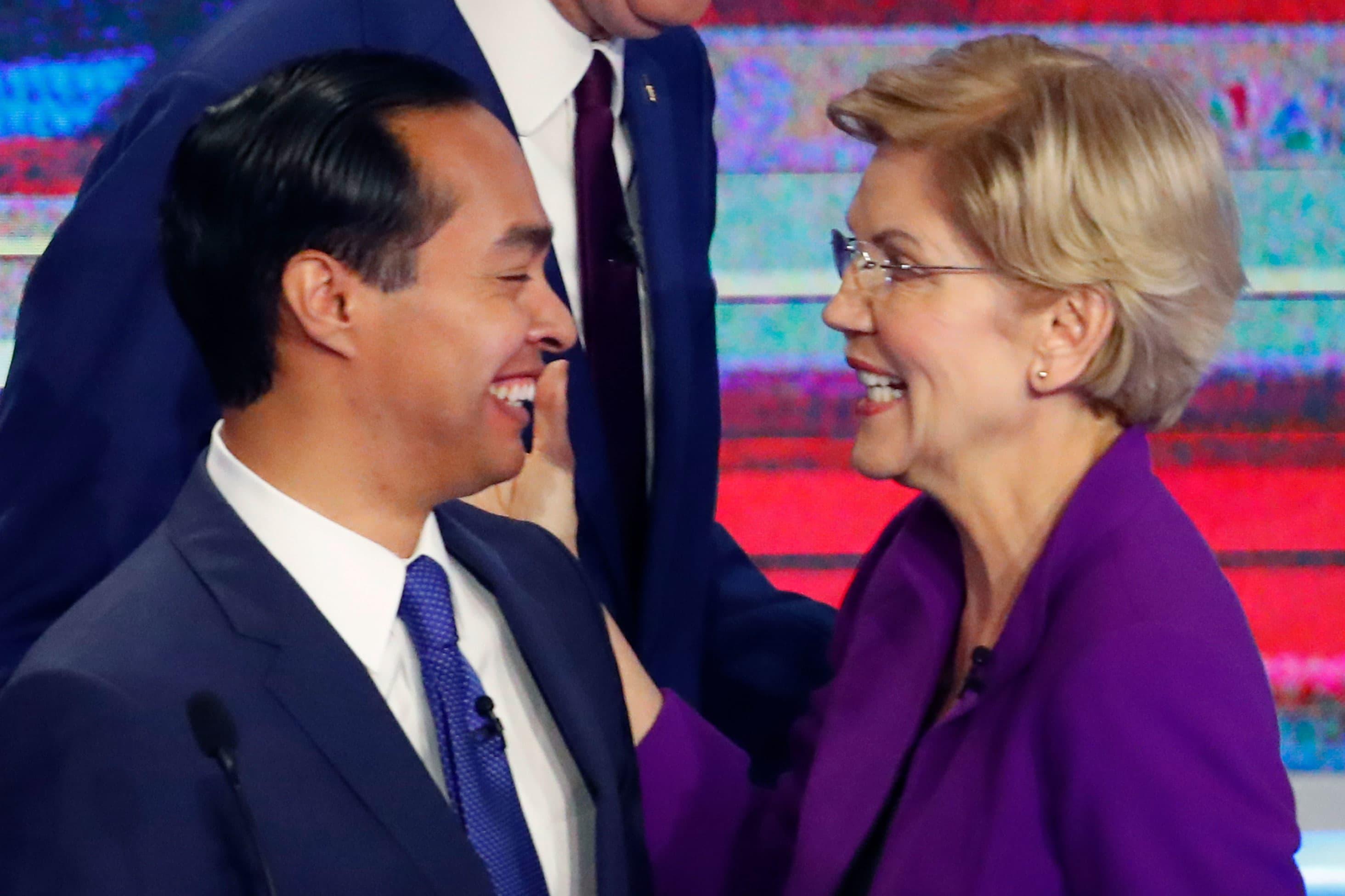 Julian Castro endorses Elizabeth Warren for president days after quitting Democratic primary