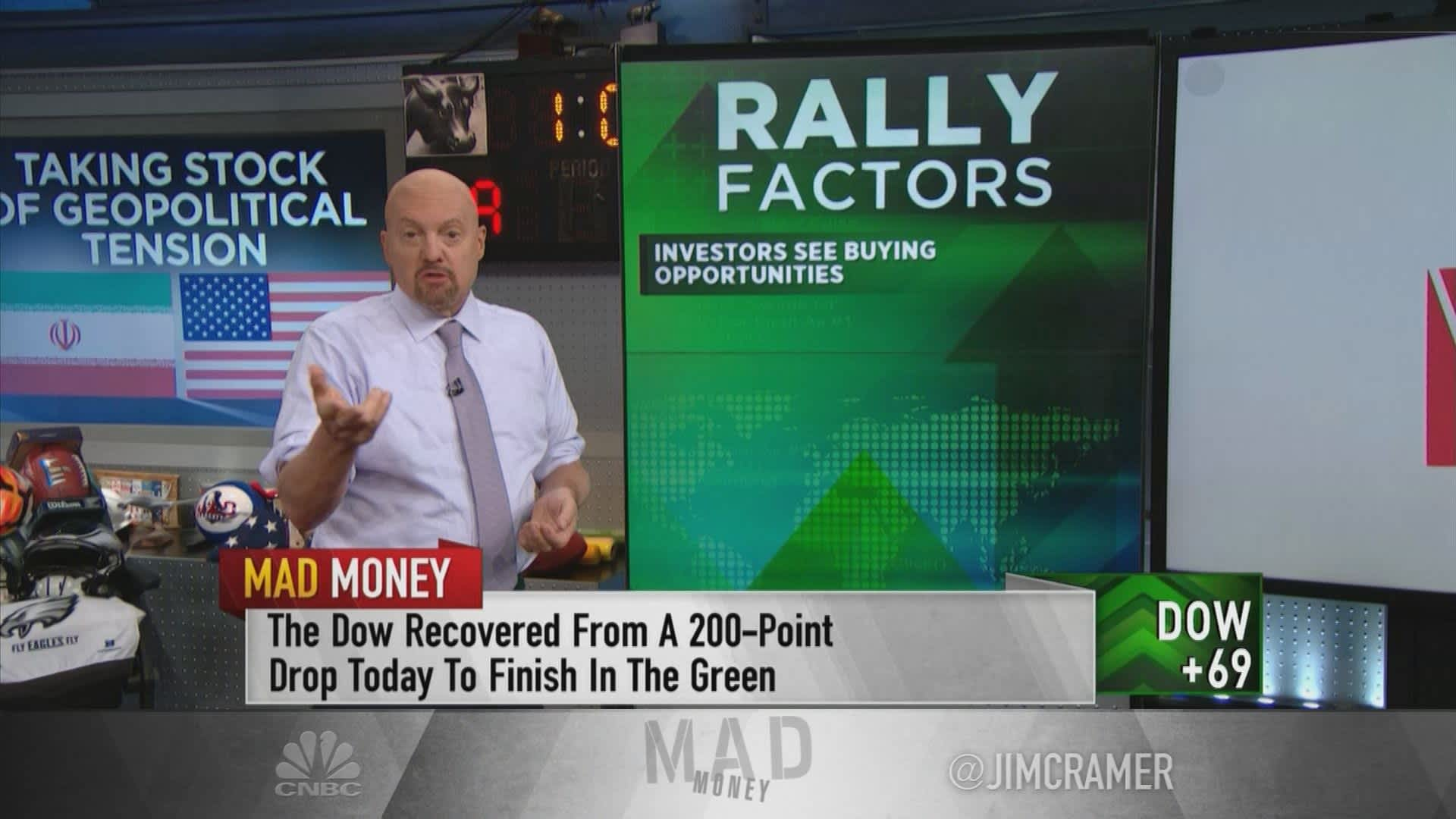 Jim Cramer's US-Iran conflict playbook: 'Cash lets you take advantage' of buying opportunities
