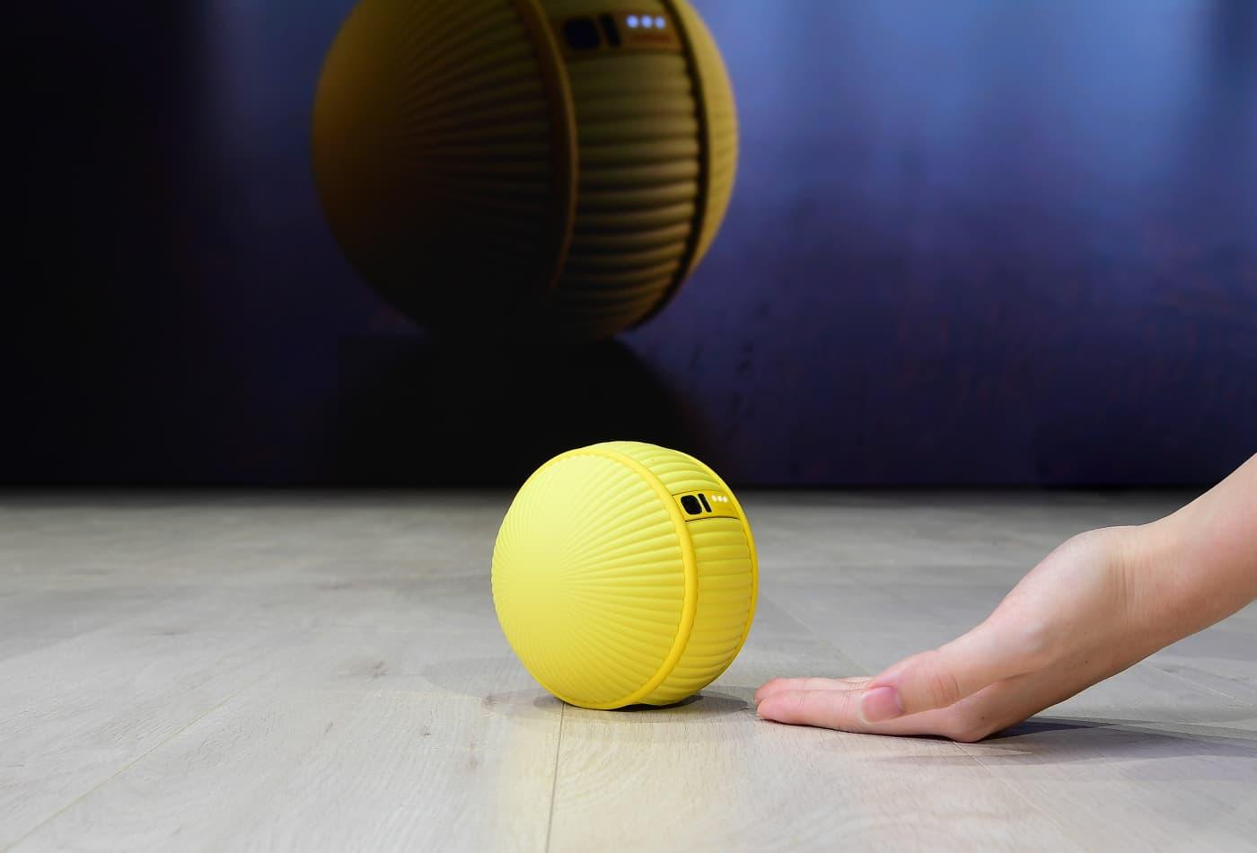 Samsung unveils 'Ballie,' a ball-shaped robot that rolls around your home