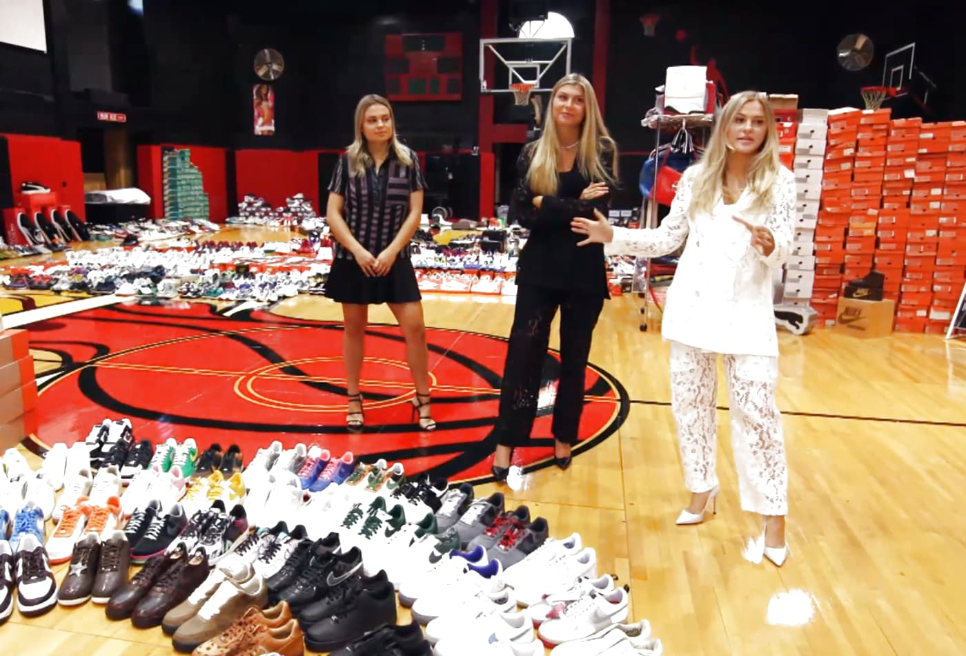 Inside one of the world's largest sneaker collections, worth millions—and it's owned by 3 women