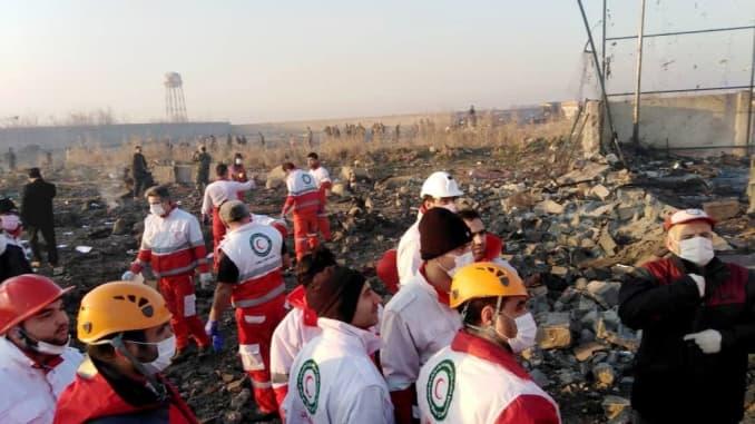 GP: Iran boeing plane crash 200108 ASIA