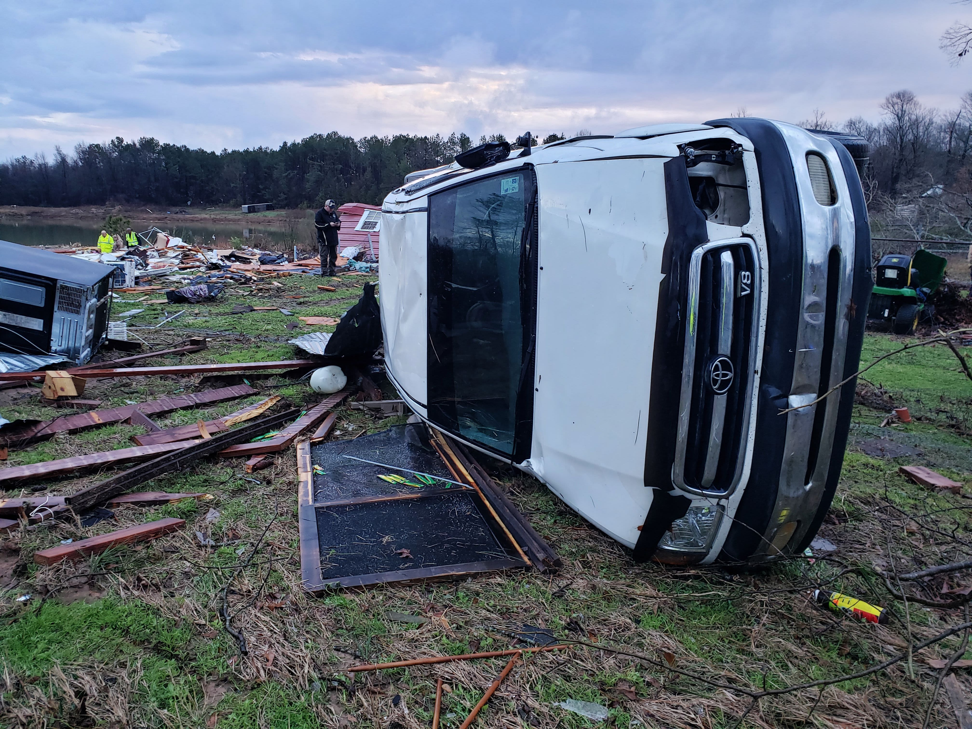 Death toll rises to at least 11 from severe storm sweeping through the South