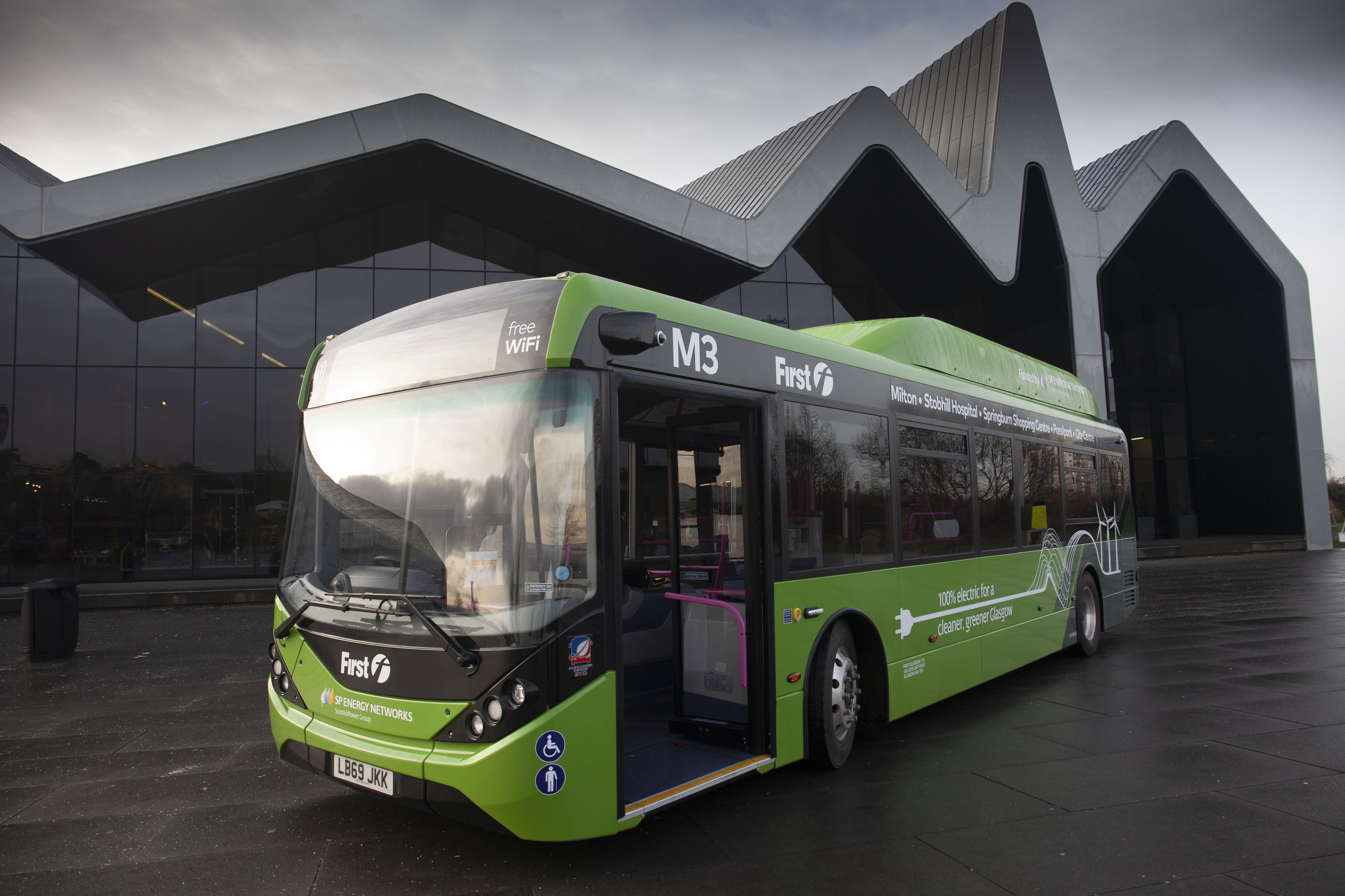 Electric buses return to Glasgow for first time in more than 50 years