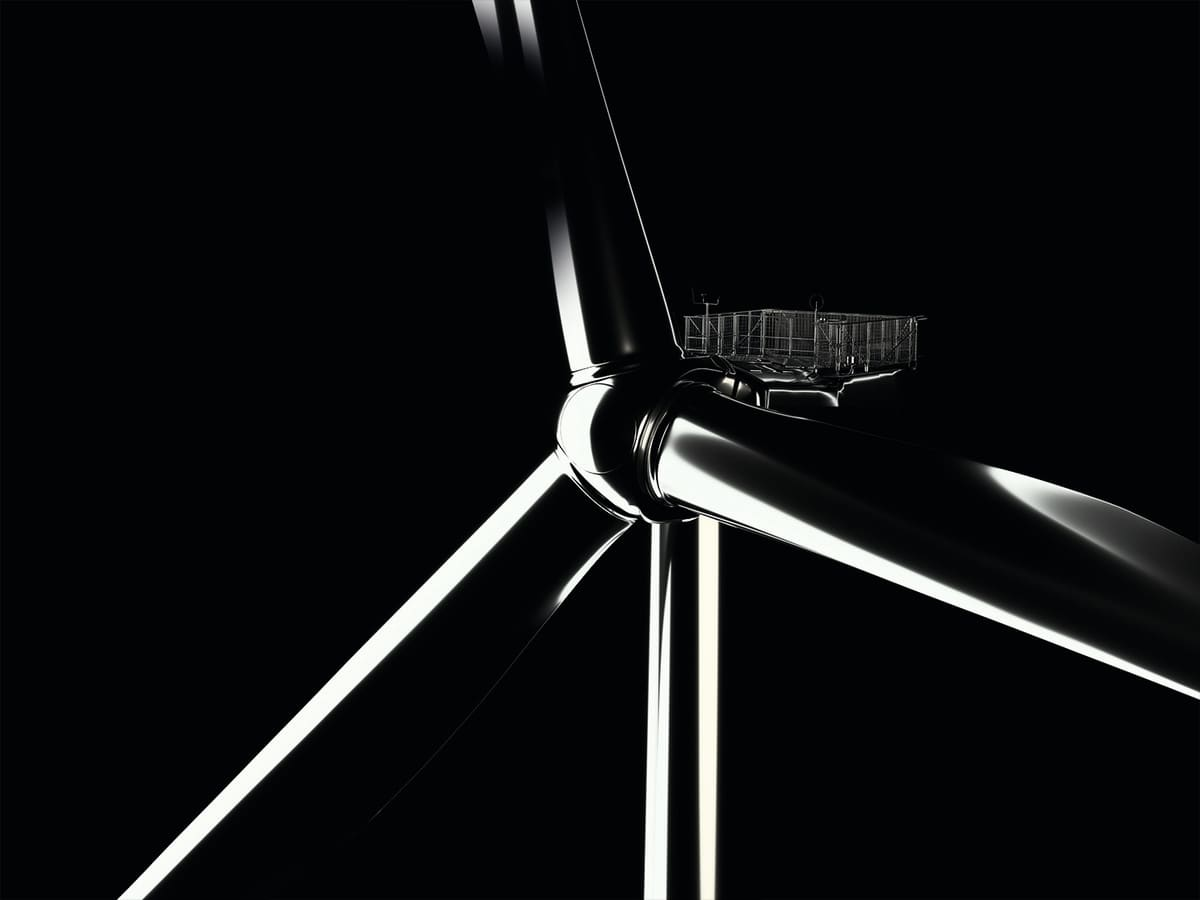An offshore wind farm using huge turbines has started to send electricity to the Belgian grid