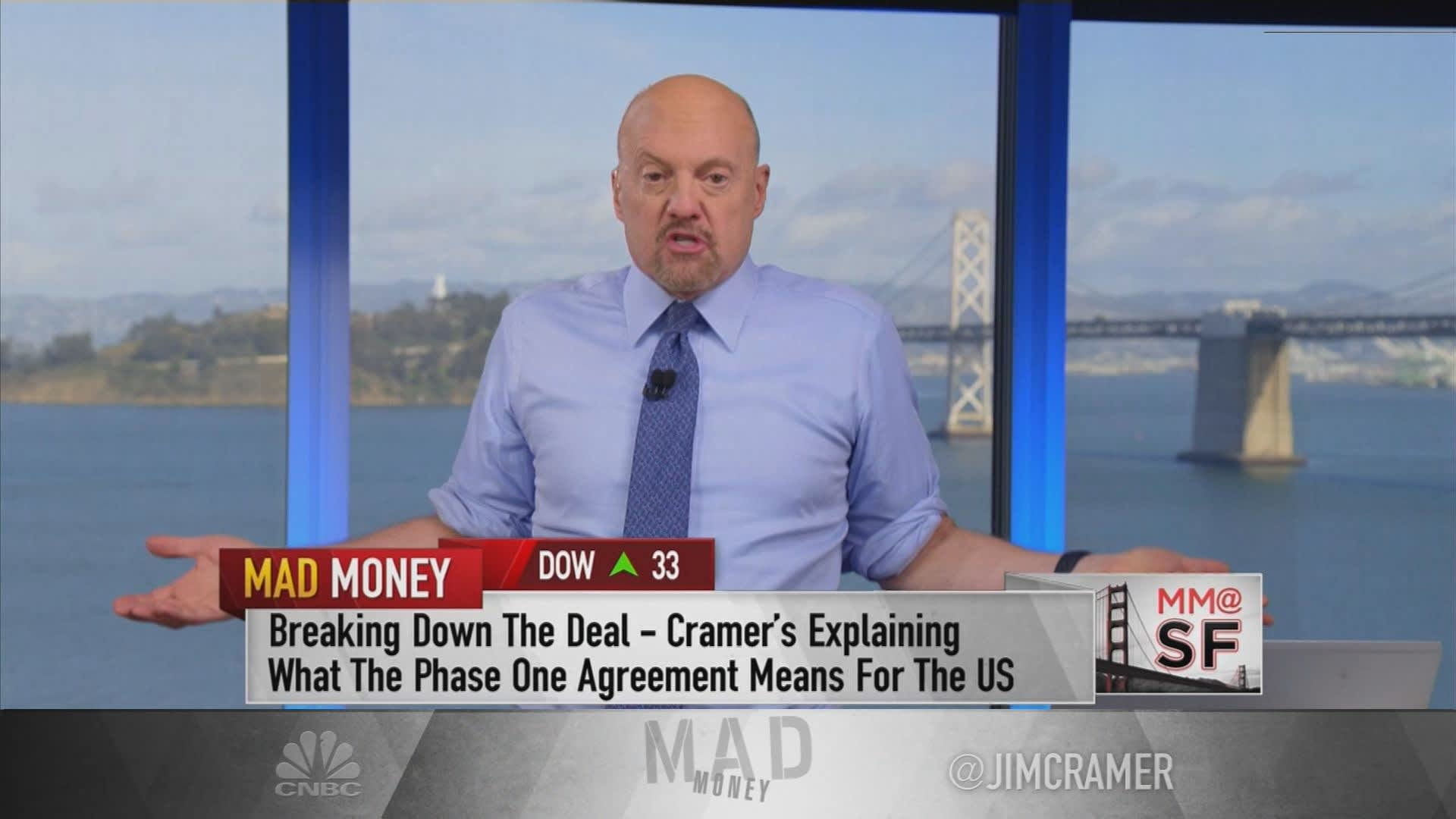 The looming market sell-off would be 'a terrible thing to waste' for investors, Jim Cramer says