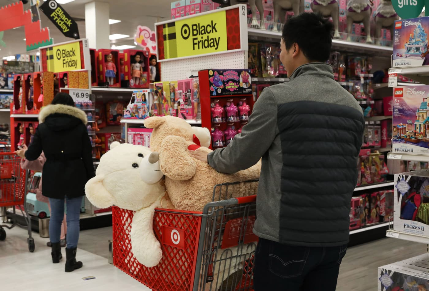 Target shares plunge as holiday sales miss estimates on weakness in toys and electronics