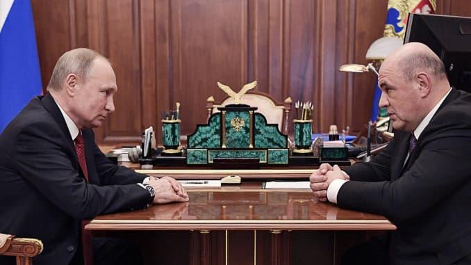 Premium: President Putin meets with Russian Federal Tax Service Head Mishustin