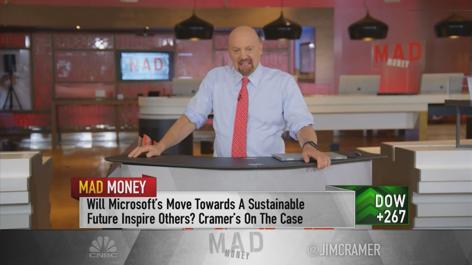 Jim Cramer: Microsoft's attempt to fight climate change matters