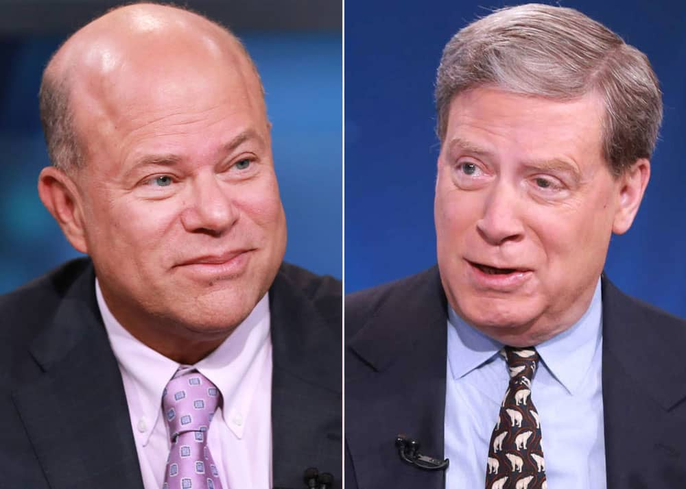 Hedge fund legends David Tepper and Stanley Druckenmiller tell CNBC they're still bullish, for now