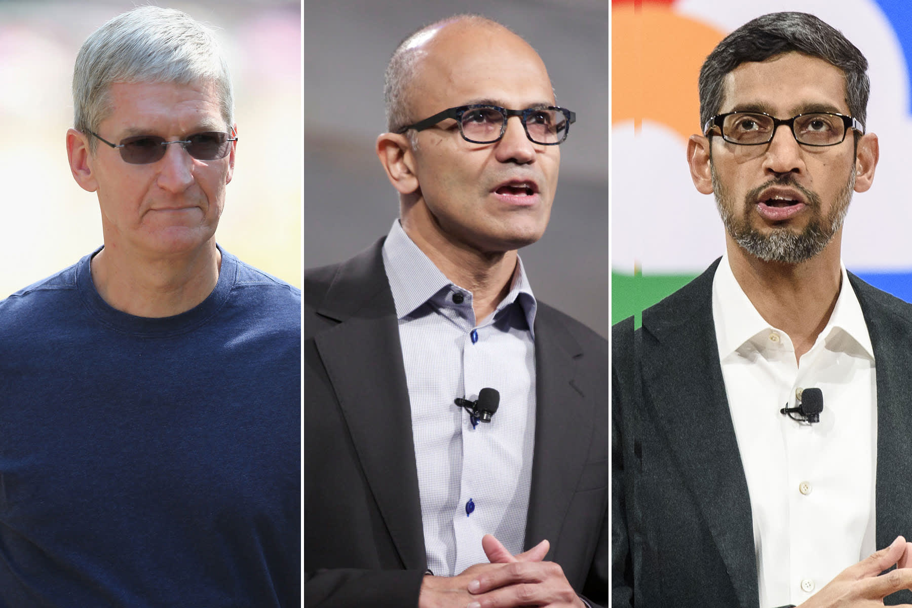 In the stock market, it's become Apple, Microsoft and Alphabet vs everyone else