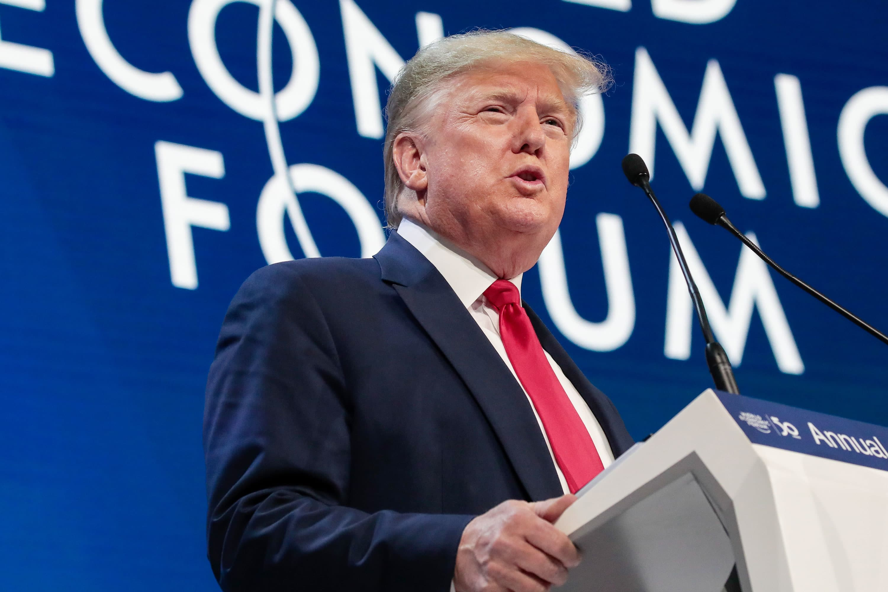 Trump at Davos urges countries to 'put their own citizens first' as he touts US economic success