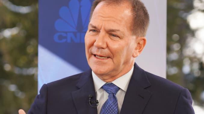 Paul Tudor Jones speaking at the World Economic Forum in Davos, Switzerland, January 21, 2020.