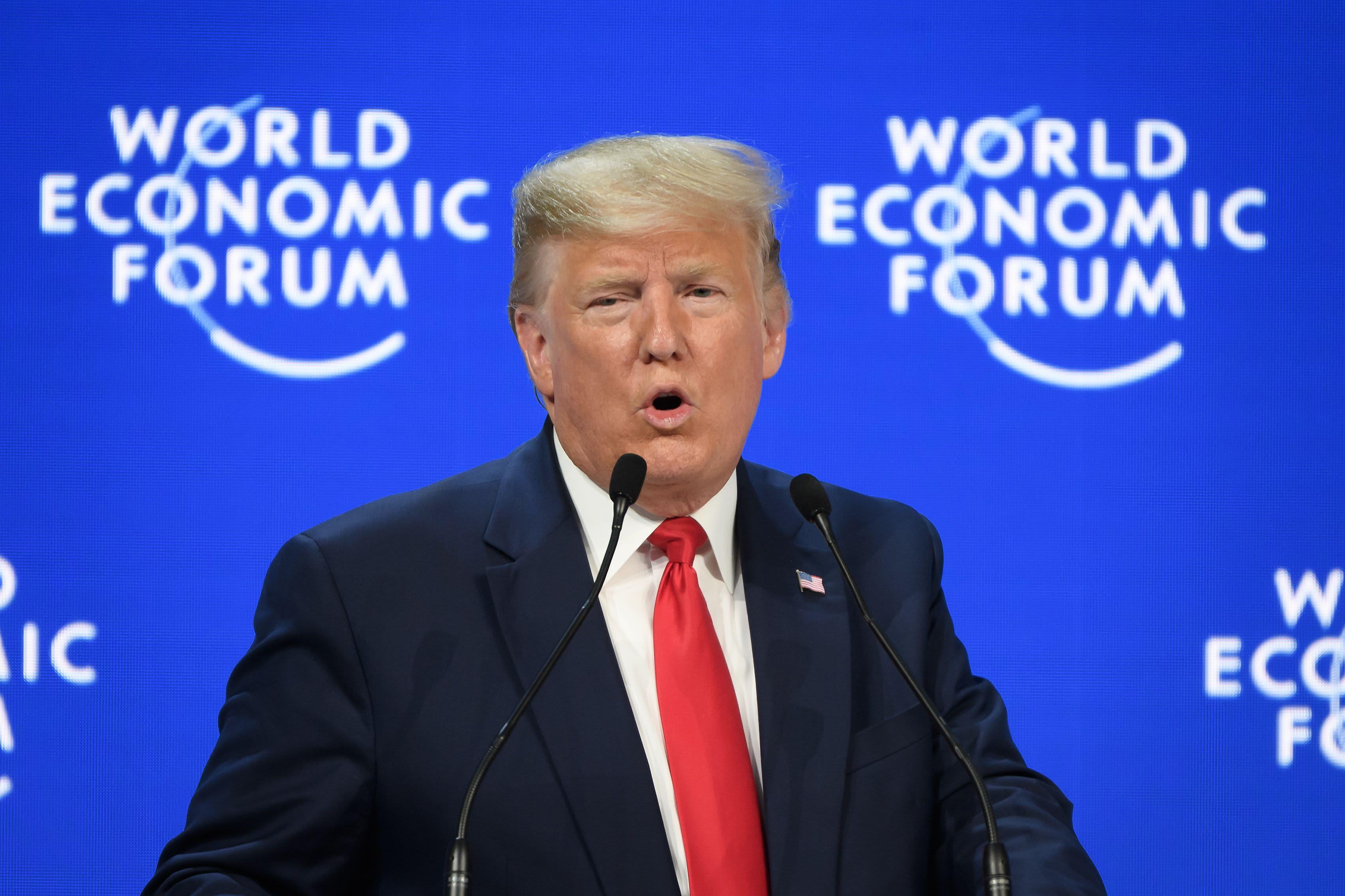 A 'pre-election speech': Attendees react to Trump's Davos address thumbnail