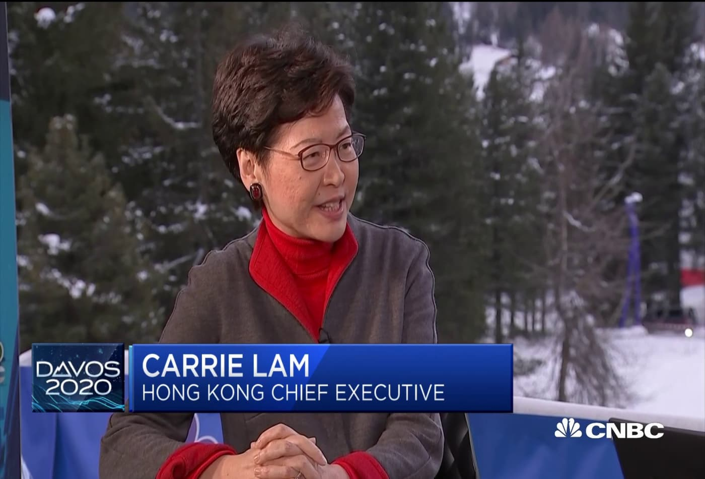Hong Kong chief executive Carrie Lam responds to calls for her resignation
