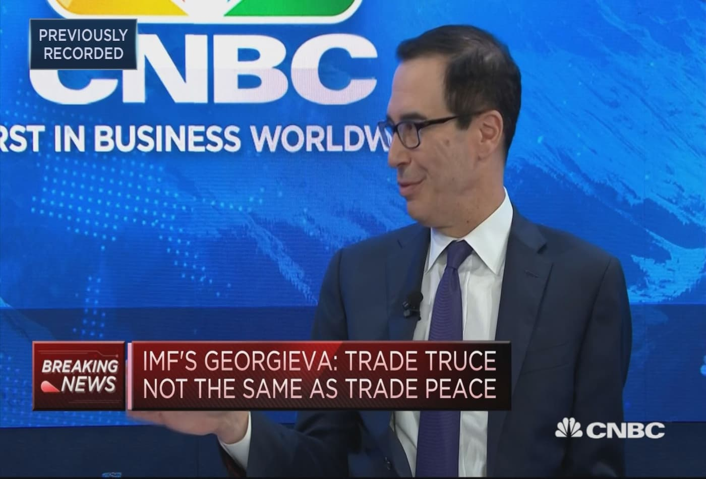 US trying to break down barriers to trade, Mnuchin says