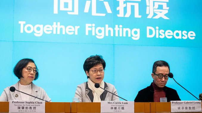 GP: Coronavirus: Hong Kong Chief Executive Carrie Lam News Conference As Coronavirus Deaths Surge in China