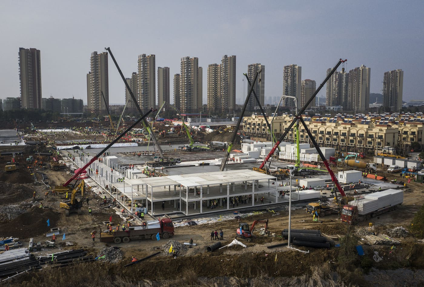 In pictures: China is building two hospitals in less than two weeks to combat coronavirus
