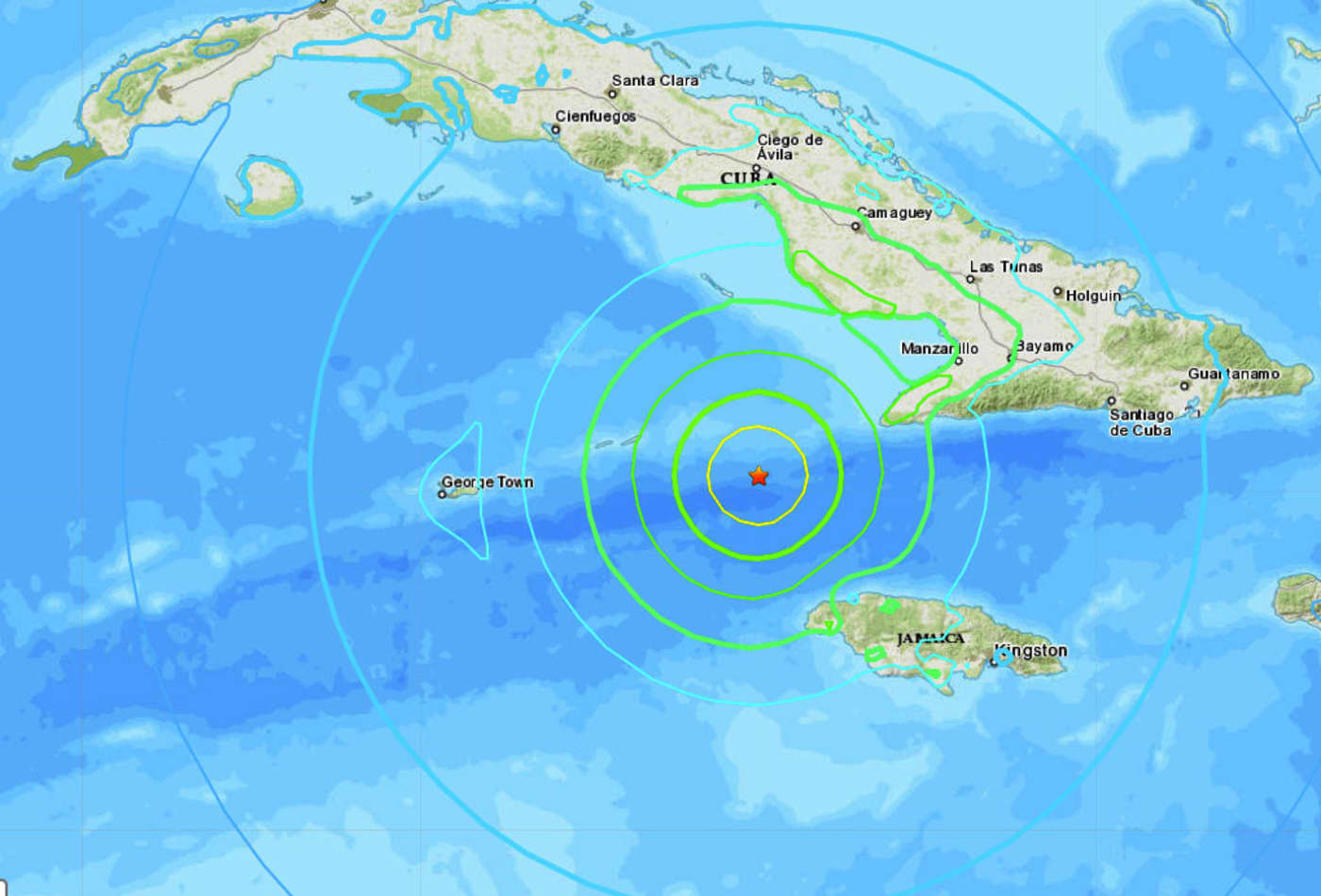 Powerful 7.7 magnitude earthquake strikes between Cuba and Jamaica