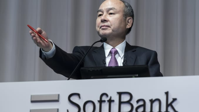 SoftBank Group Corp. Chairman and Chief Executive Officer Masayoshi Son speaks during a press conference on November 6, 2019 in Tokyo, Japan.