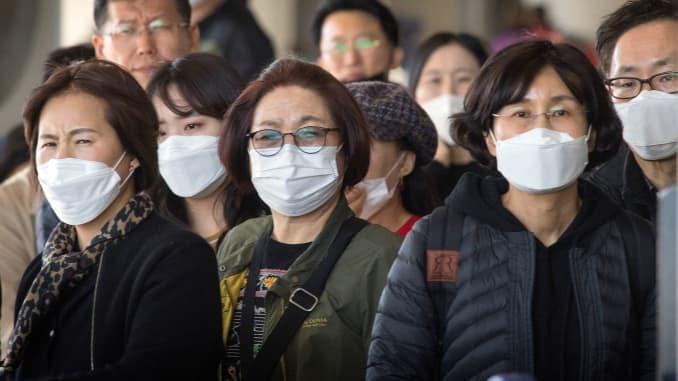 GP: Coronavirus masks passengers arrive at LAX 200129