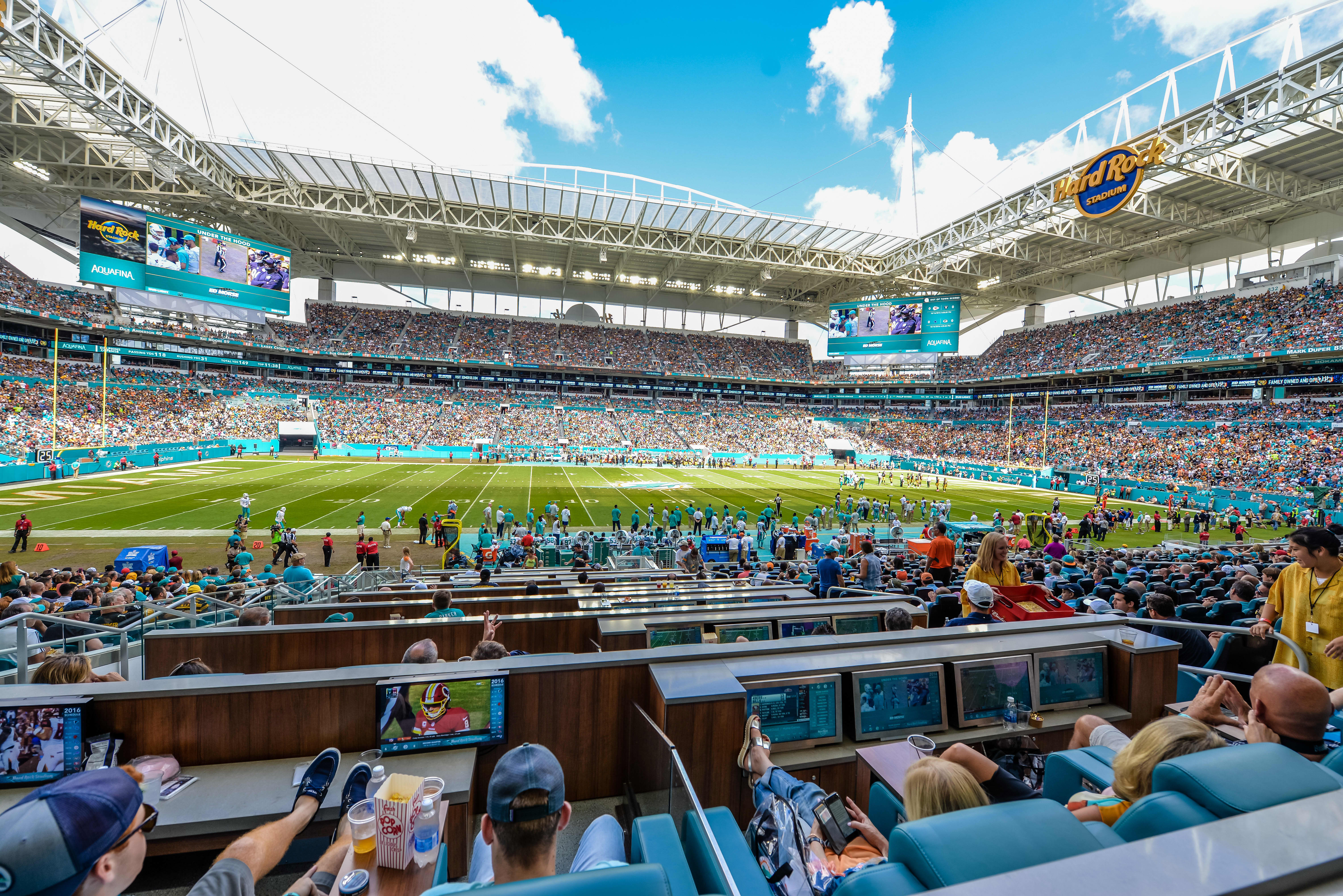 This is the view from most expensive seats at Super Bowl LIV in Miami—and they cost $35,000 each