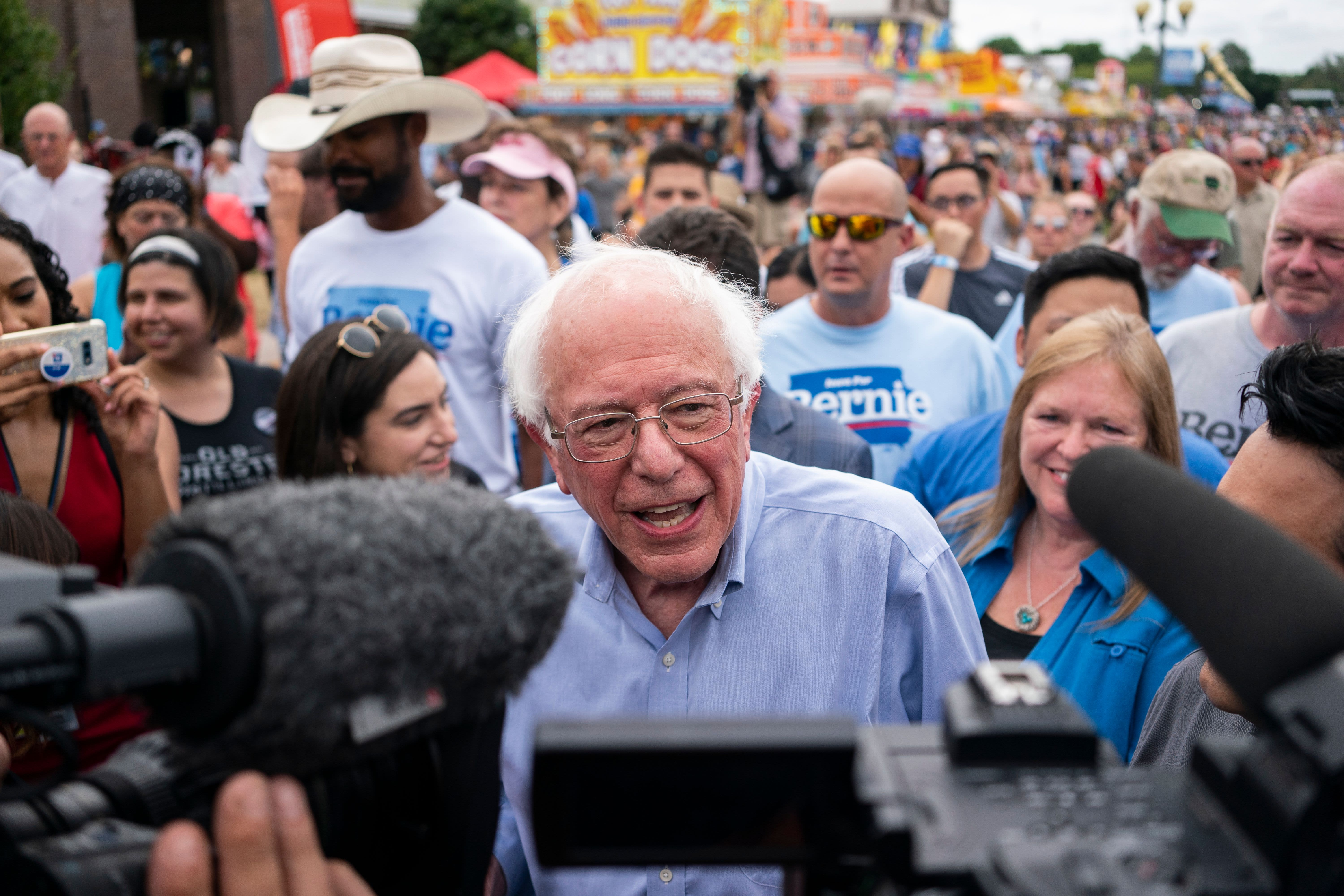 If Bernie Sanders wins Iowa Monday and gains momentum, that would spook the stock market