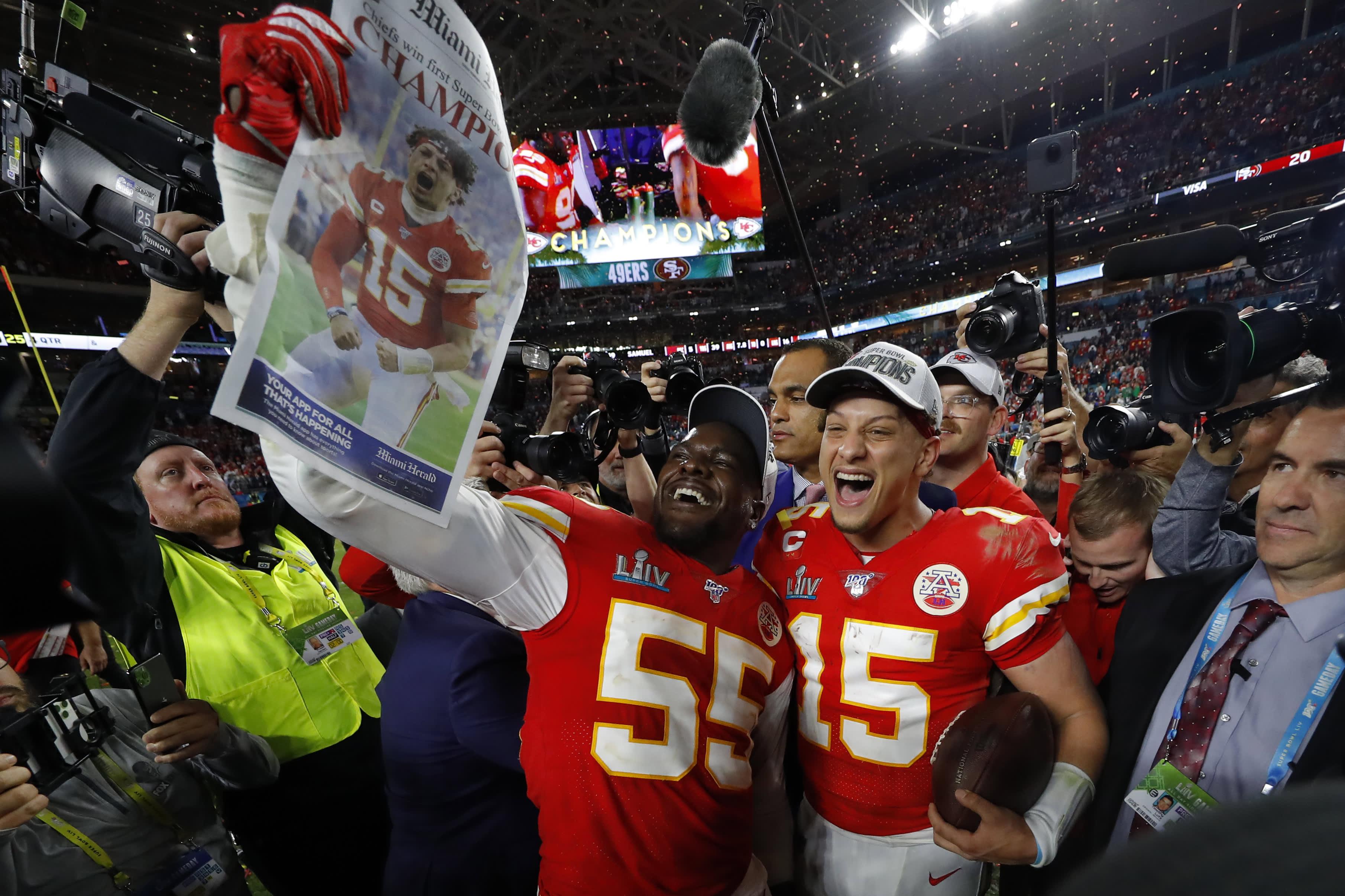 Kansas City Chiefs win Super Bowl 2020, defeating San Francisco 49ers