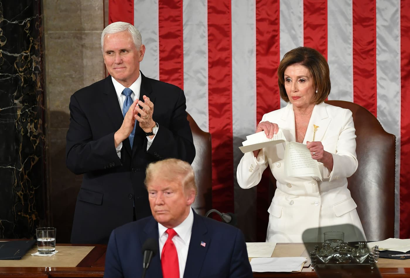 State of the Union highlights: Trump honors Limbaugh, and Pelosi rips up speech