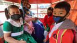 Bangladeshi students wear masks for protection against Coronavirus on January 29, 2020.