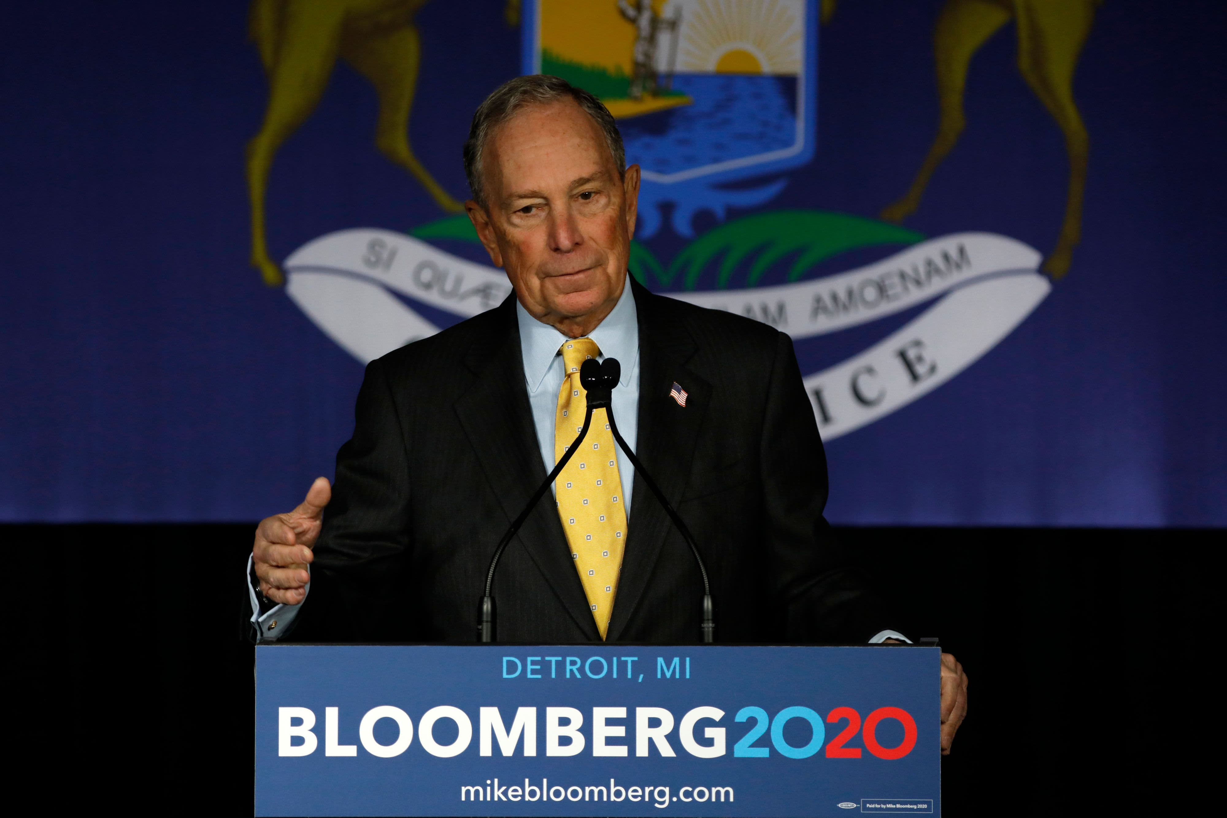 Democratic debate: 2020 candidates attack Michael Bloomberg's huge campaign spending