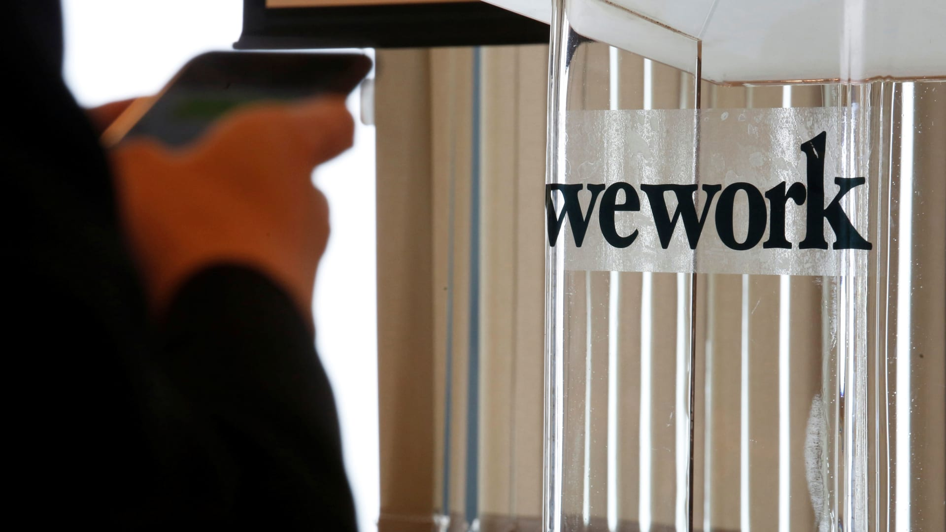 A guest attends the opening ceremony of WeWork Hong Kong flagship location in Hong Kong, China February 23, 2017.