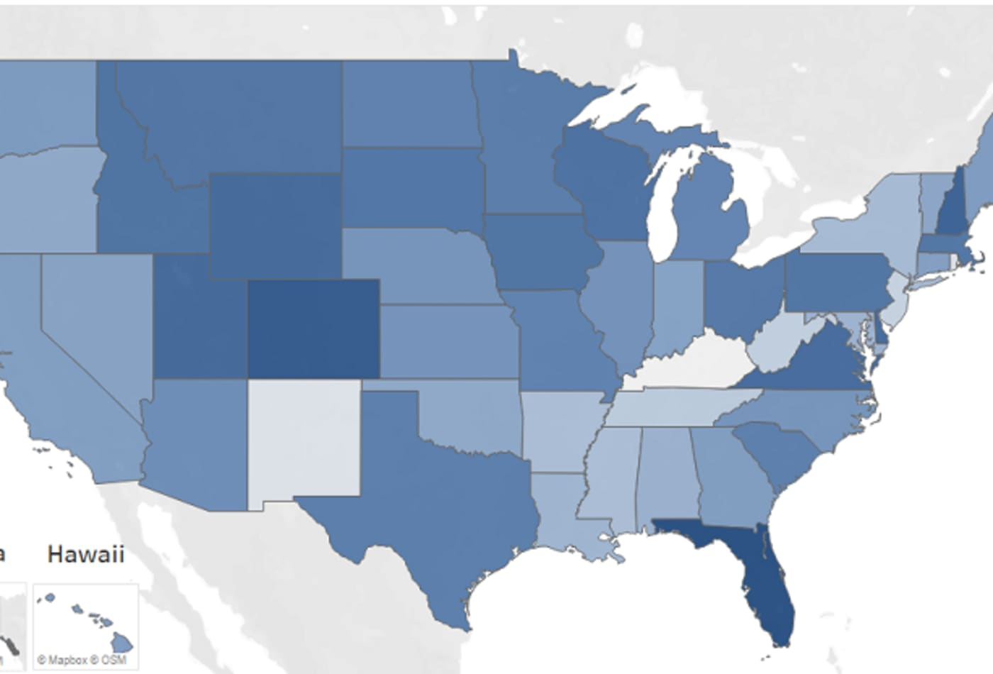 This map shows how your state measures up as a retirement spot