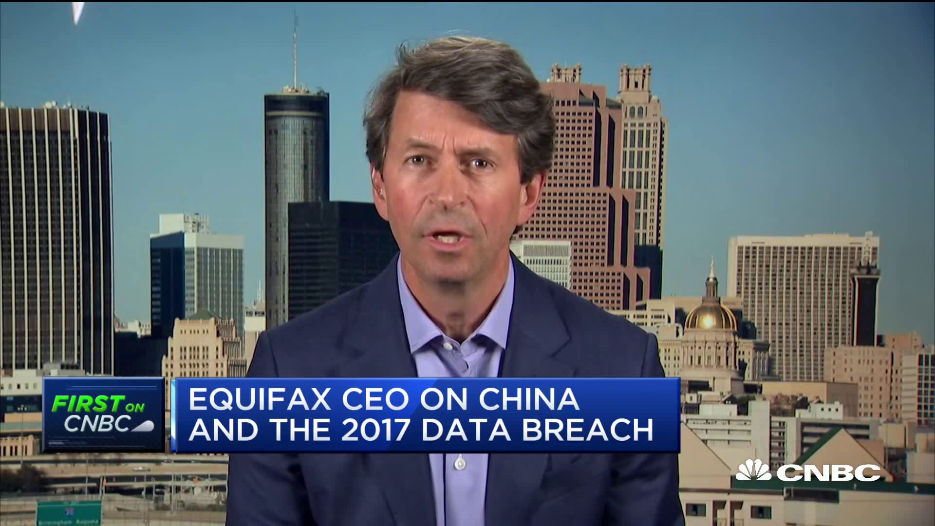 Equifax CEO Mark Begor on Chinese hackers