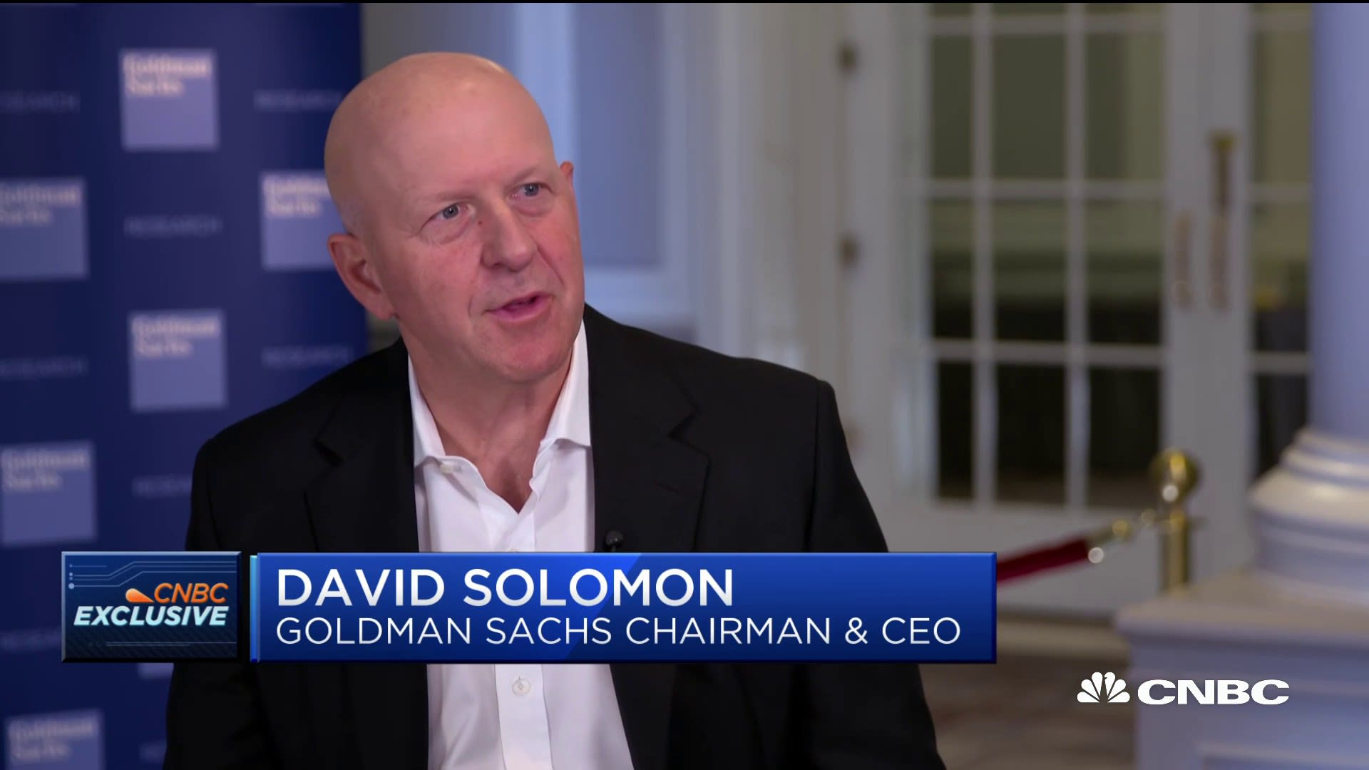 Watch CNBC's full interview with Goldman Sachs CEO David Solomon