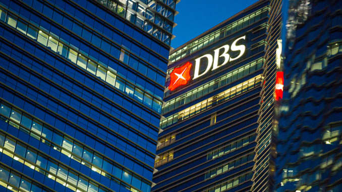 DBS Group Holdings in the central business district of Singapore.