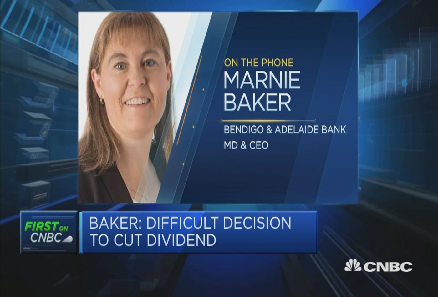 Bendigo and Adelaide Bank CEO explains the decision to cut dividend