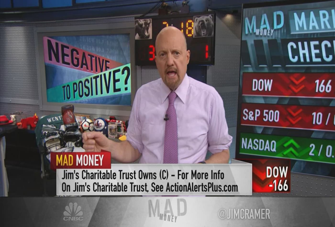 After Apple's coronavirus warning, bank stocks were 'worst performers,' says Jim Cramer